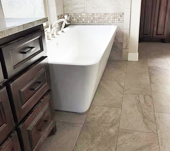 Quality Carpet & Tile custom bath project